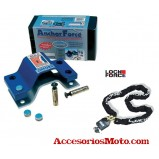 KIT ANCLAJE A SUELO ANCHOR FORCE+ CADENA LOCK FORCE 1,5m