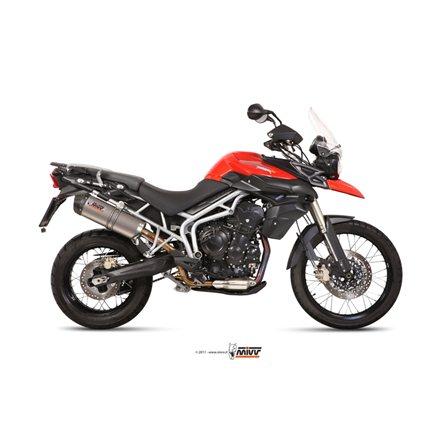 TRIUMPH TIGER 800 XC / XR / XRX / XCX / XRT / XCA 2011 - 2016 OVAL TITANIO COPA CARBONO MIVV