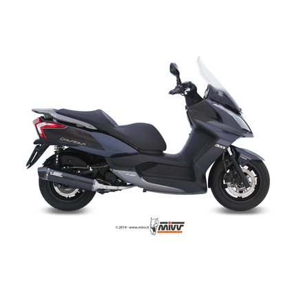 KYMCO DOWNTOWN 300 2009 - 2012 STRONGER STEEL BLACK IMP. COMPL./FULL SYS. 1X1