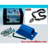KIT ANCLAJE A SUELO  + CADENA LOCK FORCE 1,5m