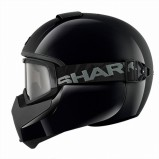 CASCO SHARK VANCORE NEGRO BRILLO