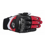 GUANTES SMX-2 AIR CARBON NEGRO BLANCO ROJO