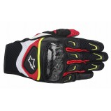 GUANTES SMX-2 AIR CARBON NEGRO BLANCO FLUO