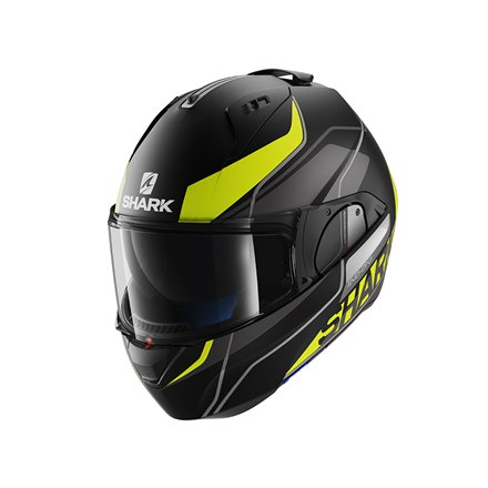 SHARK EVO ONE KRONO MATE NEGRO AMARILLO