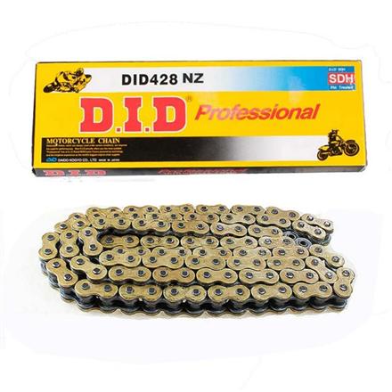 CADENA DID 428 NZ NEGRO/ORO (130 PASOS)