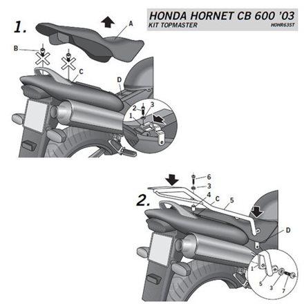 TOP MASTER HONDA CB600 F HORNET 600 - 03'-06'