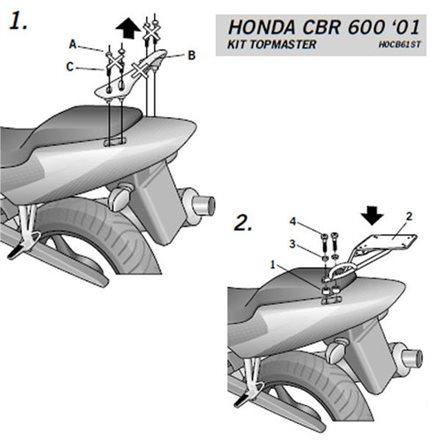 TOP MASTER HONDA CBR 600F 2001-2007