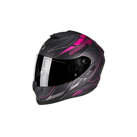 SCORPION EXO 1400 CUP NEGRO MATE ROSA