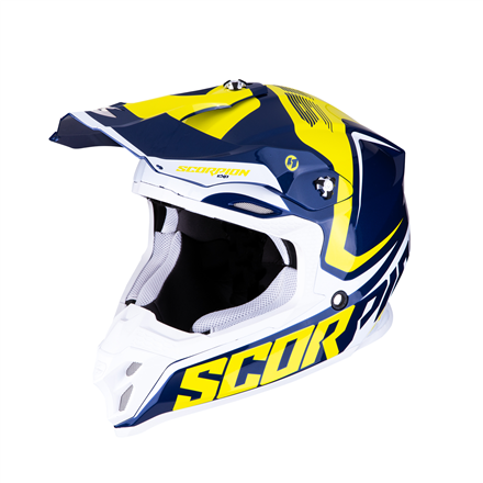 SCORPION VX-16 EVO AIR ARNEE AZUL BLANCO AMARILLO