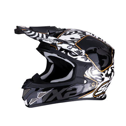 SCORPION EXO-21 AIR GNARLY NEGRO BLANCO