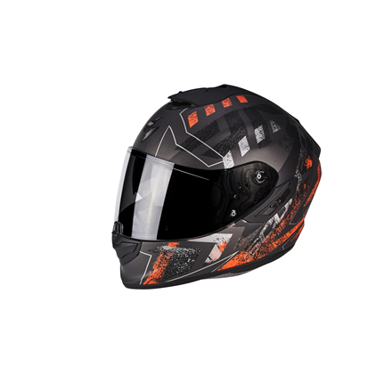 SCORPION EXO 1400 PICTA NEGRO MATE NARANJA