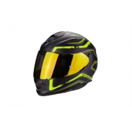 SCORPION EXO 510 RADIUM NEGRO MATE AMARILLO