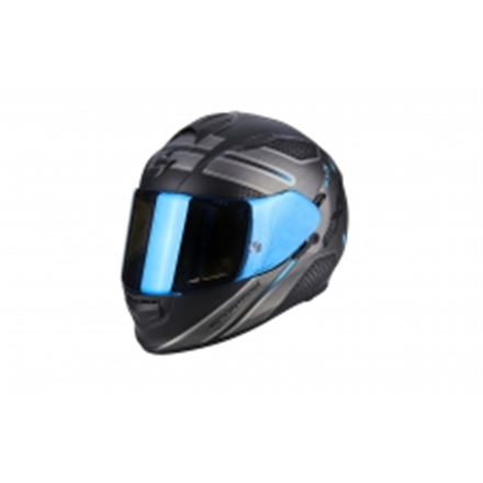 SCORPION EXO 510 ROUTE NEGRO MATE AZUL