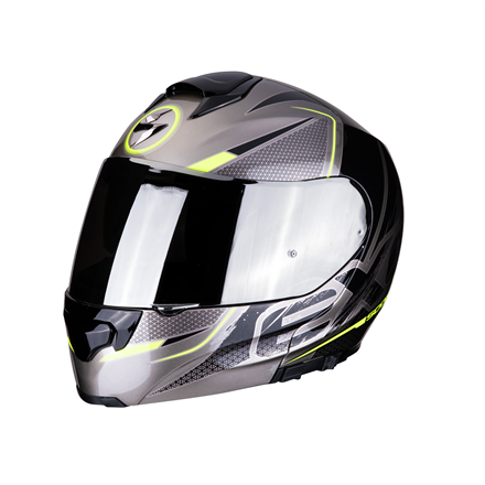 SCORPION EXO 3000 AIR CREED TITANIO NEGRO FLUO