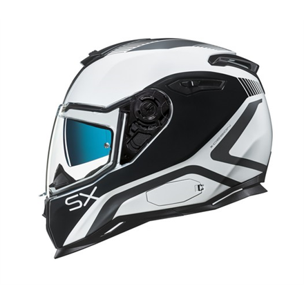 CASCO NEXX SX.100 POPUP WHITE/BLACK