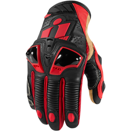 GUANTES ICON HYPERSPORT ROJO