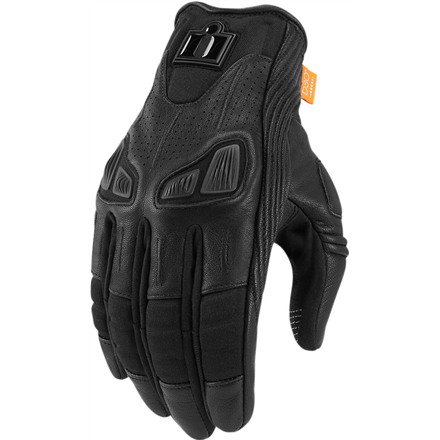 GUANTES ICON AUTOMAG 2 NEGRO
