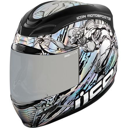 CASCO ICON AIRMADA MECHANICA PLATA