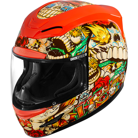 CASCO ICON AIRMADA LOSMUERTOS ROJO