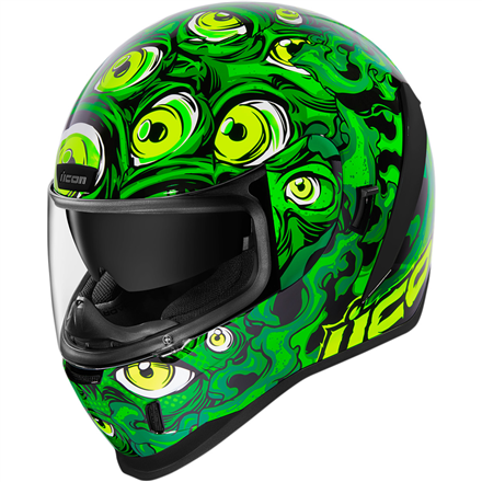 CASCO ICON AIRFORM ILLUMINAT VERDE