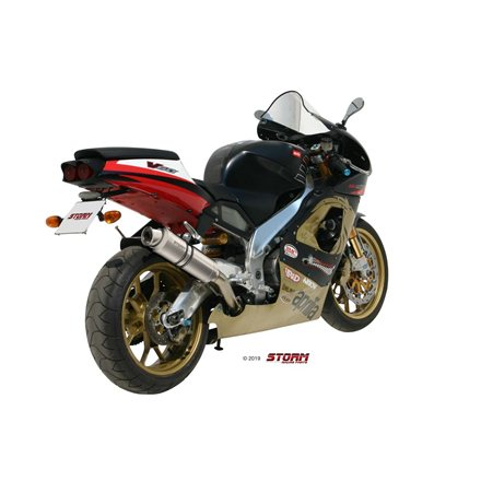 APRILIA RSV 1000 1998 - 2003 SLIP-ON OVAL INOX/ST. STEEL