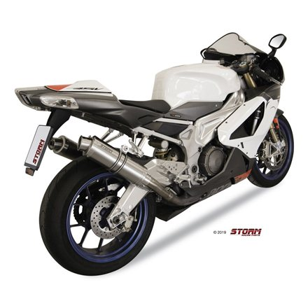 APRILIA TUONO Fighter 1000 2006 - 2010 2 SLIP-ON GP INOX/ST. STEEL