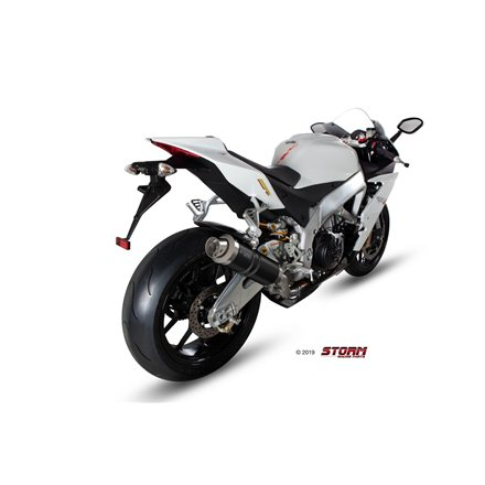 APRILIA TUONO V4 2010 - 2016 SLIP-ON GP STEEL BLACK