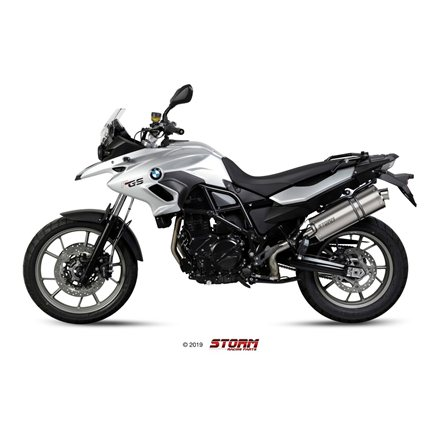 BMW F 700 GS 2012 - 2017 SLIP-ON OVAL INOX/ST. STEEL