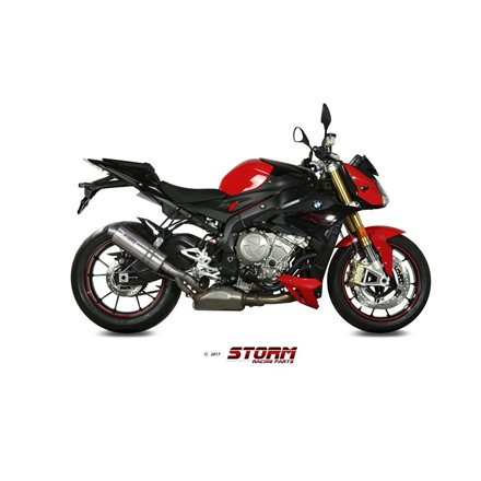 BMW S 1000 R 2017 - 2020 SLIP-ON OVAL INOX/ST. STEEL