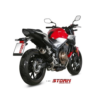 HONDA CB 500 F 2019 - 2020 SLIP-ON GP STEEL BLACK
