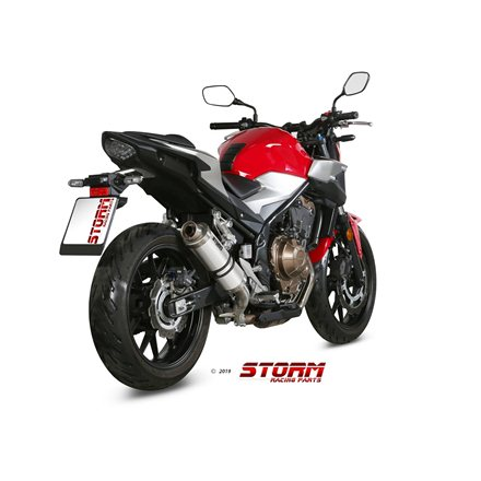 HONDA CB 500 F 2019 - 2020 SLIP-ON GP INOX/ST. STEEL
