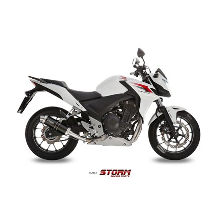 HONDA CBR 500 R 2013 - 2015 SLIP-ON GP STEEL BLACK