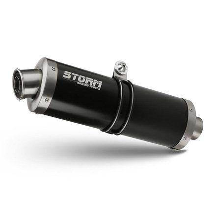 HONDA CB 650 F 2014 - 2018 Imp. compl./Full sys. 4x2x1 OVAL STEEL BLACK