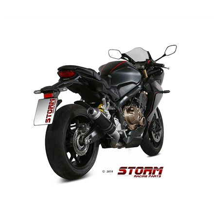 HONDA CB 650 R 2019 - 2020 Imp. compl./Full sys. 4x2x1 GP STEEL BLACK