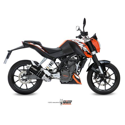 KTM 125 DUKE 2011 - 2016 Imp. compl./Full sys. 1x1 GP STEEL BLACK