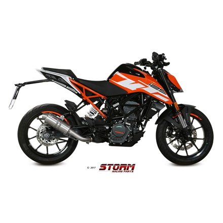 KTM RC 125 2017 - 2020 SLIP-ON GP INOX/ST. STEEL