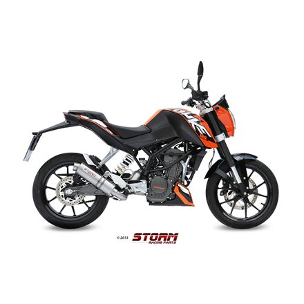 KTM 200 DUKE 2012 - 2014 Imp. compl./Full sys. 1x1 GP INOX/ST. STEEL