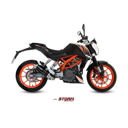 KTM 390 DUKE 2013 - 2016 Imp. compl./Full sys. 1x1 GP STEEL BLACK