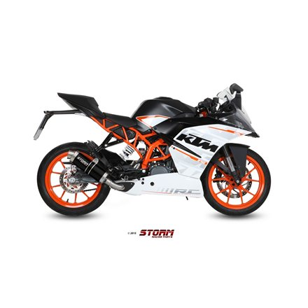KTM RC 390 2014 - 2016 Imp. compl./Full sys. 1x1 GP STEEL BLACK