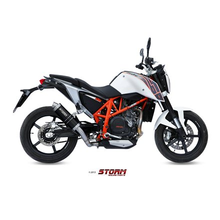 KTM 690 DUKE 2012 - 2018 SLIP-ON GP STEEL BLACK