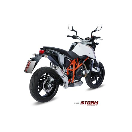 KTM 690 DUKE 2012 - 2018 SLIP-ON GP INOX/ST. STEEL