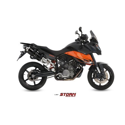 KTM 990 SUPERMOTO SMT 2009 - 2013 2 SLIP-ON OVAL STEEL BLACK