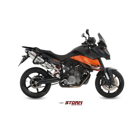 KTM 990 SUPERMOTO SMT 2009 - 2013 2 SLIP-ON OVAL INOX/ST. STEEL