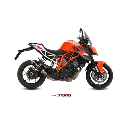 KTM 1290 SUPERDUKE 2014 - 2019 SLIP-ON GP STEEL BLACK