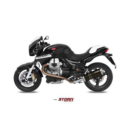 MOTO GUZZI BREVA 1200 2007 - 2011 SLIP-ON OVAL STEEL BLACK