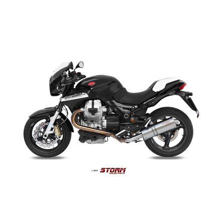 MOTO GUZZI NORGE 1200 2006 - 2008 SLIP-ON OVAL INOX/ST. STEEL