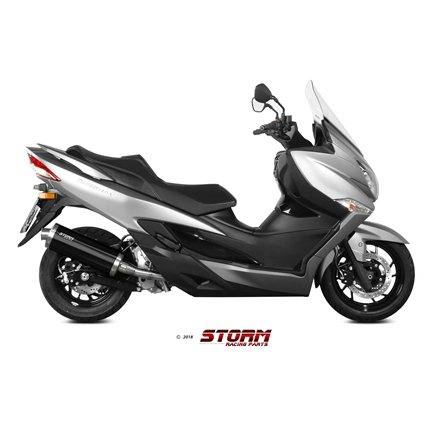 SUZUKI BURGMAN 400 2017 - test SLIP-ON OVAL STEEL BLACK