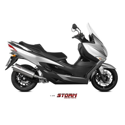 SUZUKI BURGMAN 400 2017 - test SLIP-ON OVAL INOX/ST. STEEL