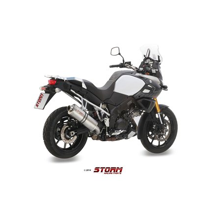 SUZUKI DL V-STROM 1000 / XT 2014 - SLIP-ON OVAL INOX/ST. STEEL